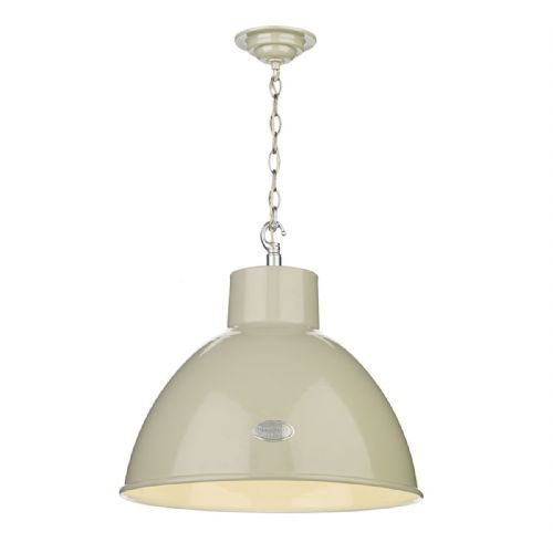 Utility Bespoke 1 Light Pendant French Cream Gloss UTI012 (Hand made, 7-10 day Delivery)
